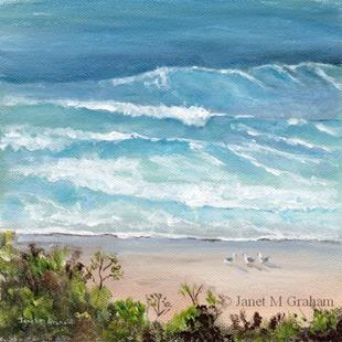 Art: Marcoola Beach by Artist Janet M Graham