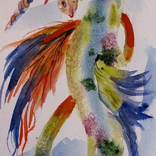 Art: Unicorn Seahorse by Artist Delilah Smith