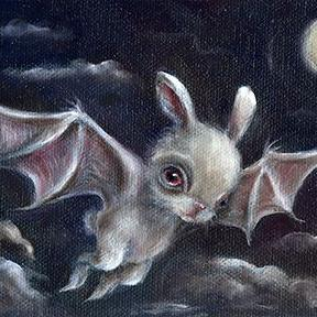 Art: Bunny Bat by Artist Vicky Knowles