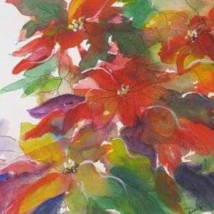 Art: Passionate Poinsettias-sold by Artist Delilah Smith