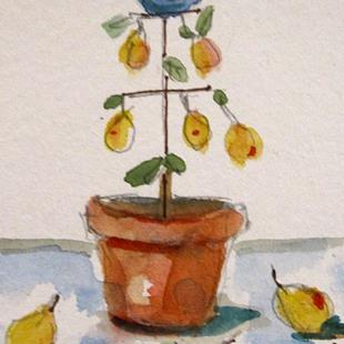 Art: A Partrideg in a Pear Tree by Artist Delilah Smith