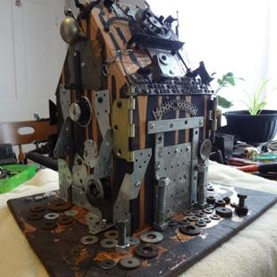 Art: Steampunk Gingerbread House Yo by Artist Vicky Helms