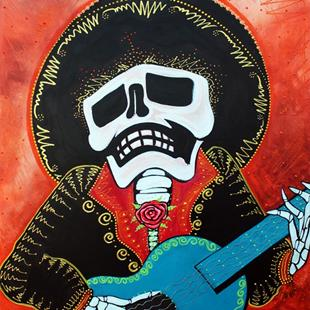 Art: Mariachi Musician by Artist Laura Barbosa