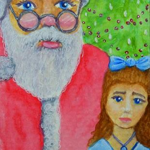 Art: Meeting Santa Claus  (SOLD) by Artist Monique Morin Matson