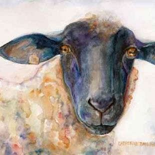 Art: Sussex Sheep by Artist Catherine Darling Hostetter