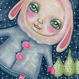 Art: Snow Bunny by Artist Sherry Key