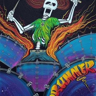 Art: Drummer Of The Dead by Artist Laura Barbosa