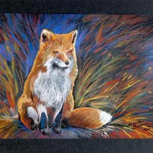 Art: RED FOX in PASTEL by Artist Marcia Baldwin