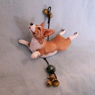 Art: Custom Corgi Ornament by Artist Camille Meeker Turner