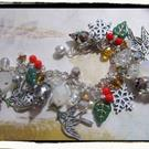 Art: Peace Doves charm bracelet by Artist Lisa  Wiktorek