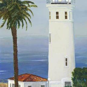 Art: Point Vicente Lighthouse by Artist Carol Thompson