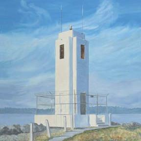 Art: Browns Point Lighthouse by Artist Carol Thompson