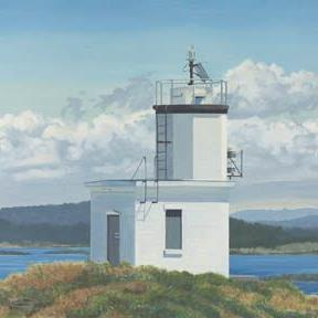 Art: Cattle Point Lighthouse by Artist Carol Thompson