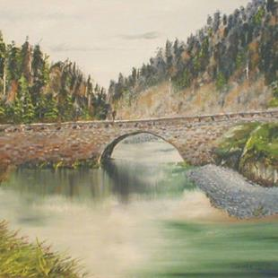 Art: Eagle Creek on Columbia River by Leonard G. Collins by Artist Leonard G. Collins
