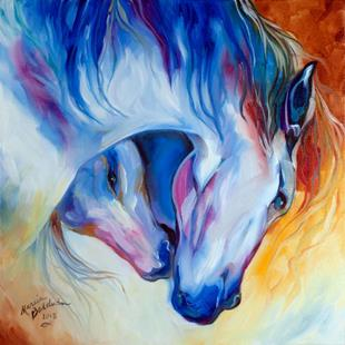 Art: ETERNAL BOND Equine by Artist Marcia Baldwin