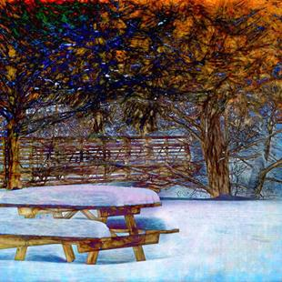 Art: Winter Picnic by Artist Carolyn Schiffhouer
