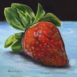 Art: Strawberry by Artist Janet M Graham