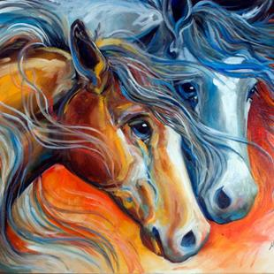 Art: MIDNIGHT & SUNRISE by Artist Marcia Baldwin