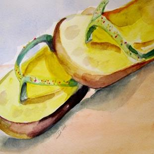 Art: Flip Flops No.3 by Artist Delilah Smith