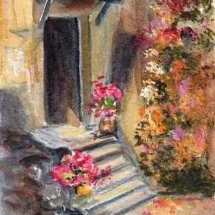 Art: Doorway ACEO by Artist Janet M Graham