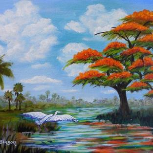 Art: Royal Poinciana 16x20 #0443 by Artist Ke Robinson