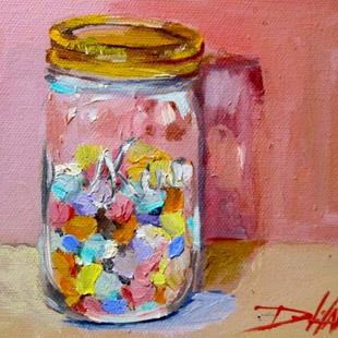 Art: Candy Hearts in a Jar by Artist Delilah Smith