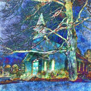 Art: A Winter's Night by Artist Carolyn Schiffhouer