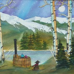 Art: A Quiet Place (sold) by Artist Kathy Crawshay