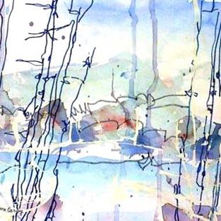 Art: Ice Pond by Artist Mary Anne Carley
