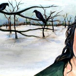 Art: Dust of Snow (Robert Frost) by Artist Patience