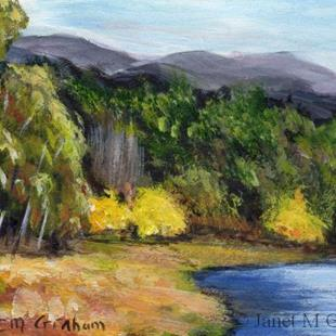 Art: Autumn Begins ACEO by Artist Janet M Graham