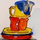 Art: Cups-sold by Artist Delilah Smith