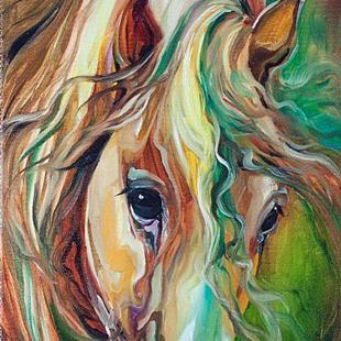 Art: WILD STORM Abstract Horse by Artist Marcia Baldwin