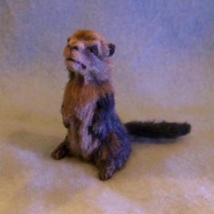 Art: 1/12th Scale Groundhog by Artist Camille Meeker Turner