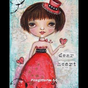 Art: Dear heart by Artist Betty Stoumbos