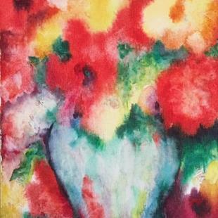 Art: Soft  Abstract Flower Bouquet by Artist Ulrike 'Ricky' Martin