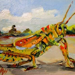 Art: Grasshopper by Artist Delilah Smith