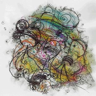 Art: Large Ink Doodle-Colorful Character Art by Artist NoRaHzArT