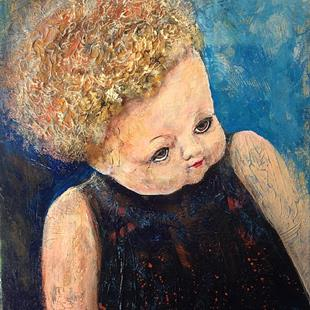 Art: Past Her Prime, A Real Old Doll by Artist Penny StewArt