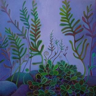 Art: Fingery Ferns by Artist Elizabeth Fiedel
