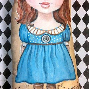 Art: Friends Art Doll by Artist Catherine Darling Hostetter