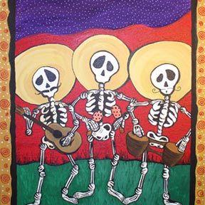 Art: Tres Mariachis by Artist Monica Moody
