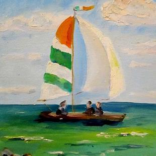 Art: Irish Sail Boats by Artist Delilah Smith