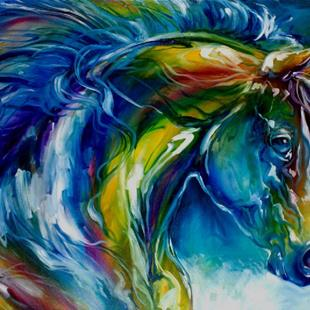 Art: MIDNIGHT RUN EQUINE by Artist Marcia Baldwin