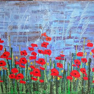 Art: Red Poppies 155 by Artist Luba Lubin