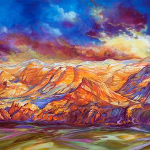 Art: RED ROCK CANYON Las Vegas Nevada COMMISSION by Artist Marcia Baldwin