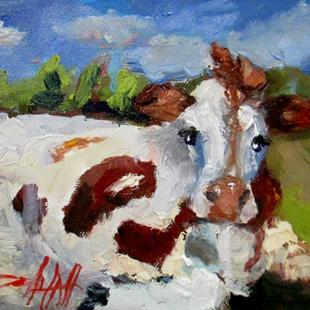 Art: Cow No.2 by Artist Delilah Smith