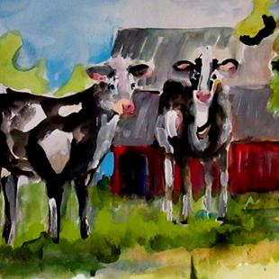 Art: Cows by Artist Delilah Smith