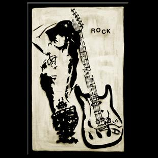 Art: Original Abstract Art - Rock Star by Artist Thomas C. Fedro
