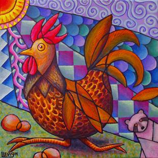 Art: Run, Rooster, Run! by Artist Lindi Levison